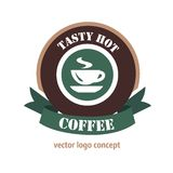 Concepto del logotipo del café Fotos de archivo