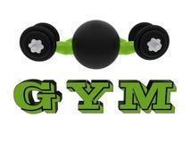 Concepto del logotipo del gimnasio stock de ilustración
