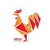 Concepto del logotipo del vector del gallo Ejemplo geométrico del extracto del gallo del pájaro Logotipo del gallo Plantilla del  Fotos de archivo libres de regalías