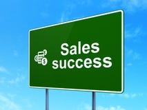 Concepto del márketing: Éxito y calculadora de las ventas encendido Fotos de archivo
