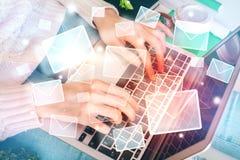 Concepto del márketing del correo electrónico imagen de archivo libre de regalías
