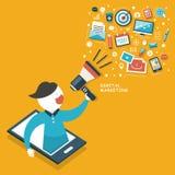 Concepto del márketing de Digitaces ilustración del vector