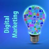 Concepto del márketing de Digitaces libre illustration