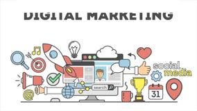 Concepto del márketing de Digitaces stock de ilustración