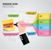 Concepto del márketing de la planificación de empresas imagen de archivo