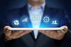 Concepto del márketing de la tecnología del comercio de la empresa de negocios de B2B fotos de archivo