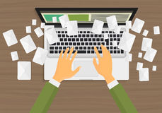 Concepto del márketing del correo electrónico Foto de archivo