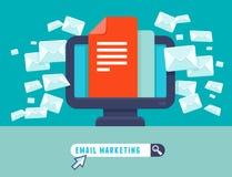 Concepto del márketing del correo electrónico del vector Imágenes de archivo libres de regalías