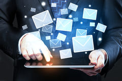 Concepto del márketing del email Imagen de archivo libre de regalías
