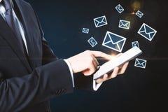Concepto del márketing del email fotos de archivo