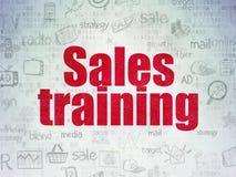 Concepto del márketing: Entrenamiento de ventas en el papel de Digitaces Fotos de archivo