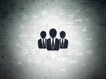 Concepto del márketing: Hombres de negocios en digital Imagen de archivo libre de regalías
