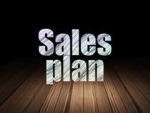 Concepto del márketing: Plan de las ventas en sitio oscuro del grunge Fotografía de archivo libre de regalías