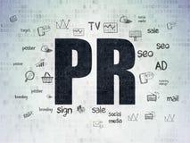 Concepto del márketing: RRPP en el fondo de papel de Digitaces Fotografía de archivo