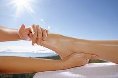 Concepto del masaje del pie Imagen de archivo libre de regalías