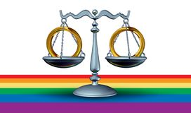 Concepto del matrimonio homosexual libre illustration