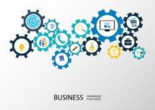 Concepto del mecanismo del negocio - ejemplo Imagen de archivo libre de regalías