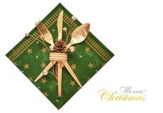 Concepto del menú de la Navidad Imagen de archivo libre de regalías
