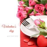 Concepto del menú de la tarjeta del día de San Valentín del St Imagen de archivo