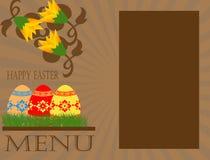Concepto del menú de Pascua Fotografía de archivo libre de regalías