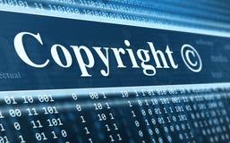 Concepto del mensaje de Copyright