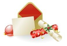 Concepto del mensaje de la Navidad Imagen de archivo libre de regalías