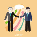 Concepto del mentor Fotografía de archivo