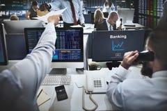 Concepto del mercado de acción de las finanzas de las actividades bancarias del negocio Fotografía de archivo libre de regalías