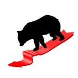 Concepto del mercado de oso Fotografía de archivo