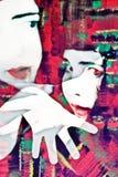 Concepto del Mime del expresionista Imagenes de archivo