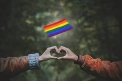 Concepto del movimiento de LGBT imagen de archivo
