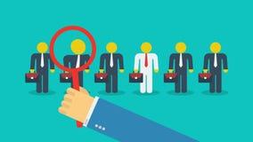 Concepto del movimiento del reclutamiento stock de ilustración