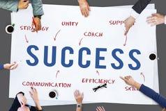 Concepto del márketing de la estrategia de la empresa de negocios del éxito Fotos de archivo
