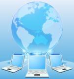 Concepto del mundo de la red de ordenadores Imágenes de archivo libres de regalías