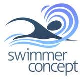 Concepto del nadador Imagenes de archivo
