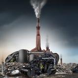 Concepto del negador del cambio de clima stock de ilustración
