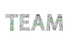 Concepto del negocio del clouid de Team Word, aislado en el fondo blanco ilustración del vector