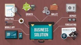 Concepto del negocio con la cartera de la operación Foto de archivo