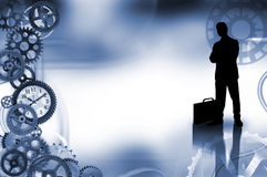 Concepto del negocio con la silueta Imagen de archivo libre de regalías
