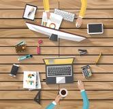 Concepto del negocio - concepto del trabajo - diseño plano Imágenes de archivo libres de regalías