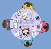 Concepto del negocio - concepto del trabajo - diseño plano Imagenes de archivo