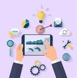 Concepto del negocio - concepto del trabajo - diseño plano Fotografía de archivo
