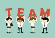 Concepto del negocio, concepto del trabajo en equipo Ilustración del vector ilustración del vector