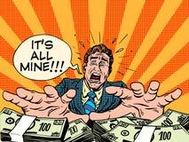 Concepto del negocio de dinero de la riqueza de la avaricia Imagen de archivo libre de regalías
