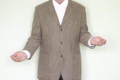 Concepto del negocio de igualdad El hombre en la chaqueta imagen de archivo