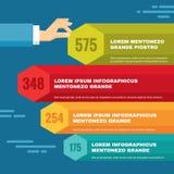 Concepto del negocio de Infographic - bloques coloreados y Foto de archivo