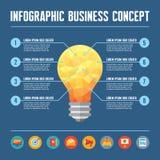 Concepto del negocio de Infographic - ejemplo creativo de la idea
