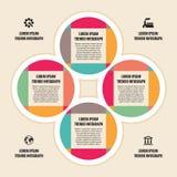 Concepto del negocio de Infographic - esquema del vector con los iconos Fotos de archivo libres de regalías