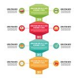 Concepto del negocio de Infographic - vertical de la cronología - ejemplo en estilo plano del diseño ilustración del vector