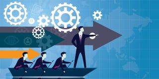 Concepto del negocio de la dirección Líder People Icon Typography ilustración del vector